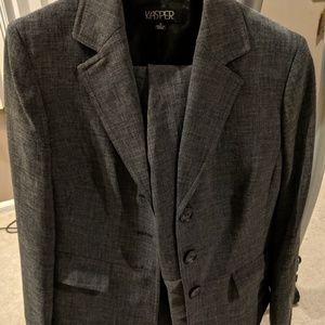 Grey pants suit size 8